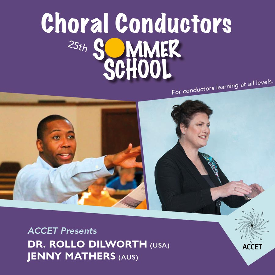 accet choral conductor sommer school conducting choral music